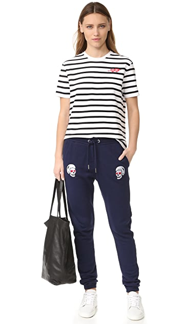 Zoe Karssen You & Me Striped Tee