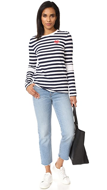 Zoe Karssen Sucker Long Sleeve Striped Tee