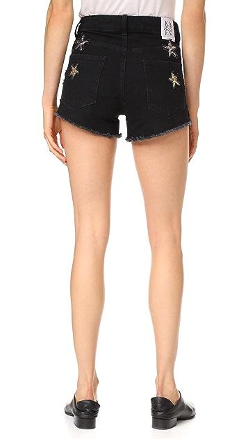 Zoe Karssen Sequin Stars Shorts