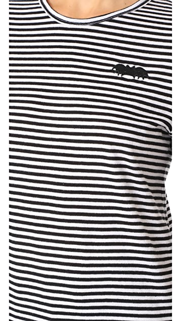 Zoe Karssen Striped Bat Long Sleeve