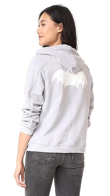 Zoe Karssen Bat Zip Up Hoodie