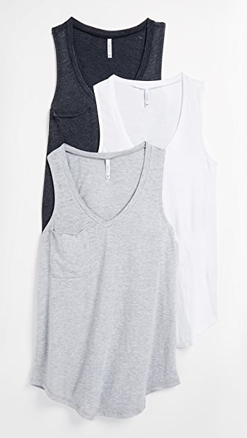 Z Supply Pocket Racer Tank 3 Pack