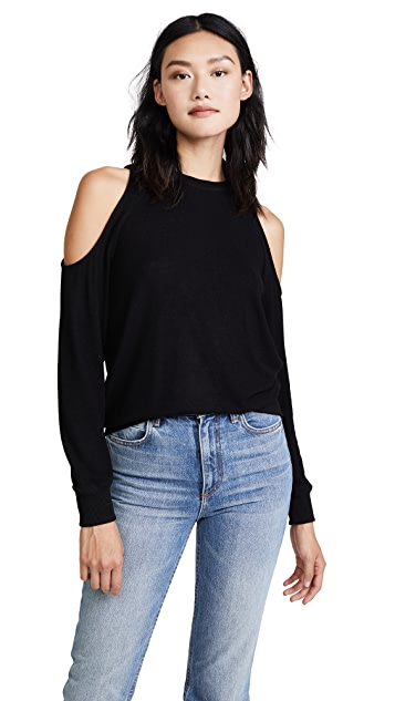 Z Supply The Marled Cold Shoulder Sweatshirt