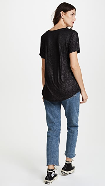Z Supply 2 Pack Shimmer Pocket Tees