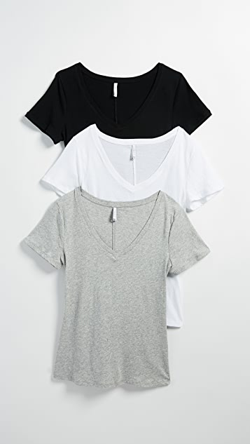Z Supply Core V Neck Tee 3 Pack