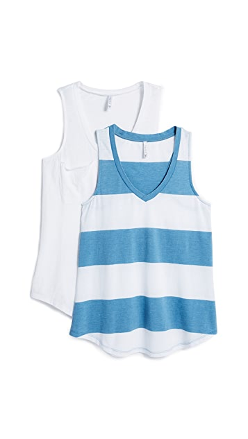 Z Supply The Stripe & Pocket Tank 2 Pack
