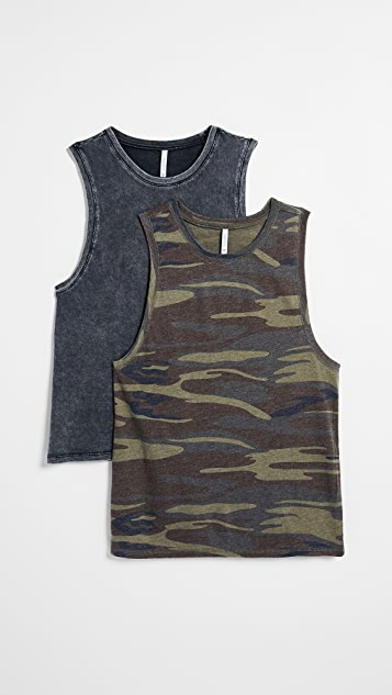 Z Supply The Camo Muscle Tank 2 Pack