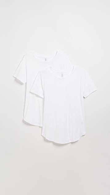Z Supply 2 Pack of Relaxed Crew Tees - White