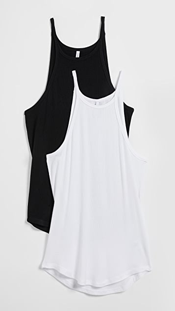 Z Supply The Micro Ribbed Tank Top with High Neck 2 Pack