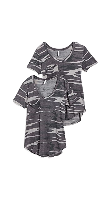 Z Supply The Camo Pocket Tee 2 Pack