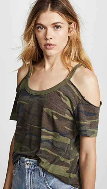 Z Supply The Camo Cold Shoulder Tee