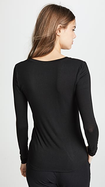 Z Supply Fitted Long Sleeve V Neck Tee - 2 Pack