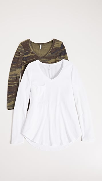 Z Supply Camo & Solid Tee - Two Pack