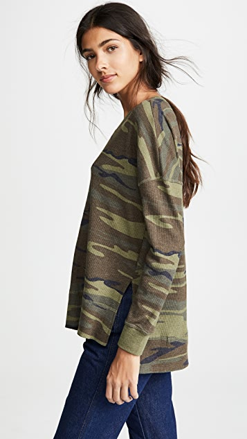 Z Supply Emerson Camo Thermal Pullover