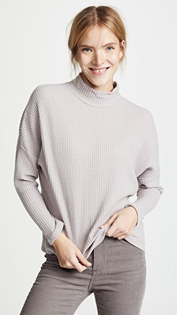 Z Supply Mock Neck Waffle Thermal
