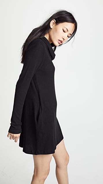 Z Supply Brushed Rib Cowl Dress