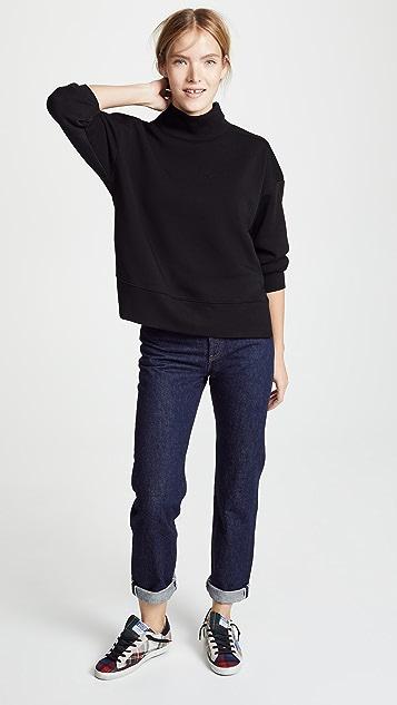 Z Supply Loft Fleece Mock Neck Sweatshirt