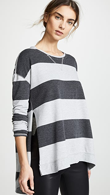 Z Supply The Rugby Stripe Weekender Pullover