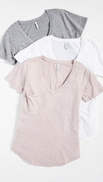 Z Supply Triblend 口袋 T 恤 3 件装