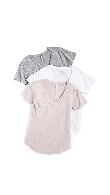 Z Supply Комплект из трех футболок с карманом Triblend