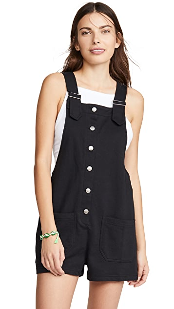 Z Supply Button Front Shortalls