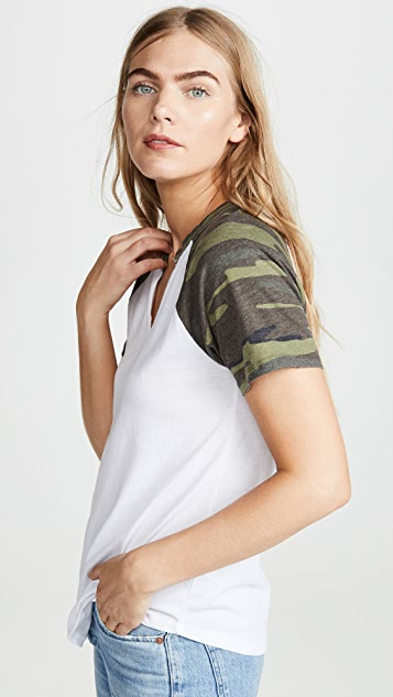 Z Supply Camo Sleeve Baseball Tee
