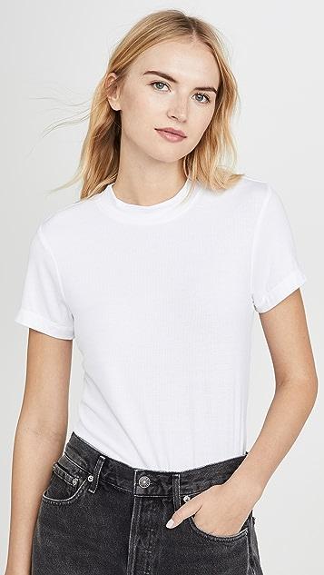 Z Supply Приталенная футболка в мелкий рубчик