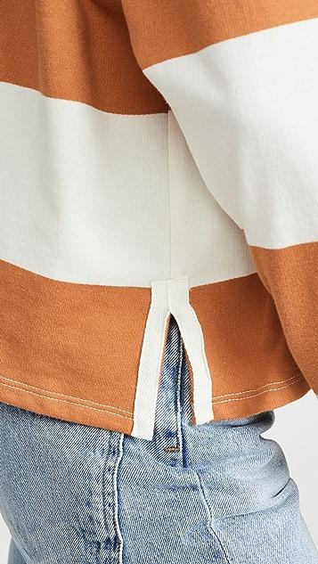 Z Supply Рубашка с воротником в полоску в стиле регби
