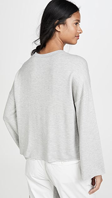 Z Supply Пуловер с расклешенными рукавами из премиального флиса