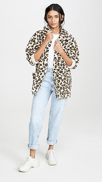 Z Supply Пальто из искусственного меха с леопардовым принтом