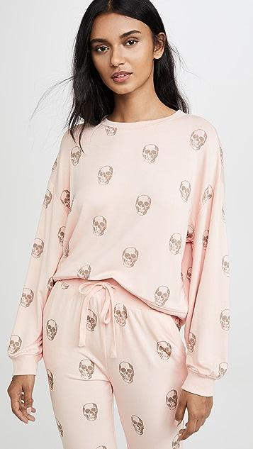 Z Supply Пуловер с округлым вырезом с изображением черепа