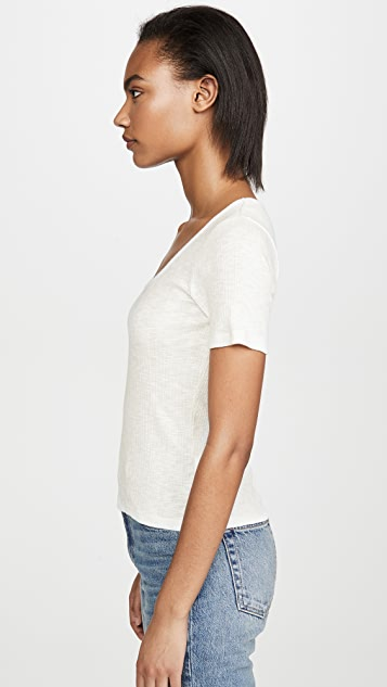 Z Supply Textured Rib Scoop Tee