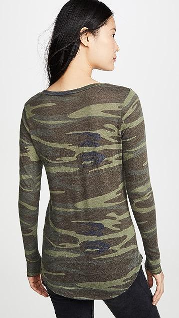 Z Supply Камуфляжная футболка с длинными рукавами