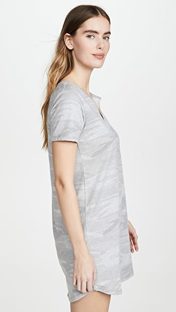 Z Supply 分叉领口迷彩连衣裙