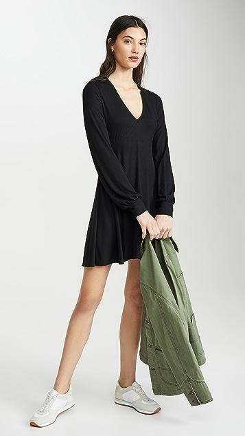 Z Supply Micro Rib Long Sleeve Dress
