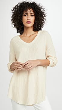 Waffle Thermal Pullover