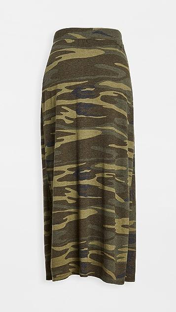 Z Supply Alva Camo Midi Skirt
