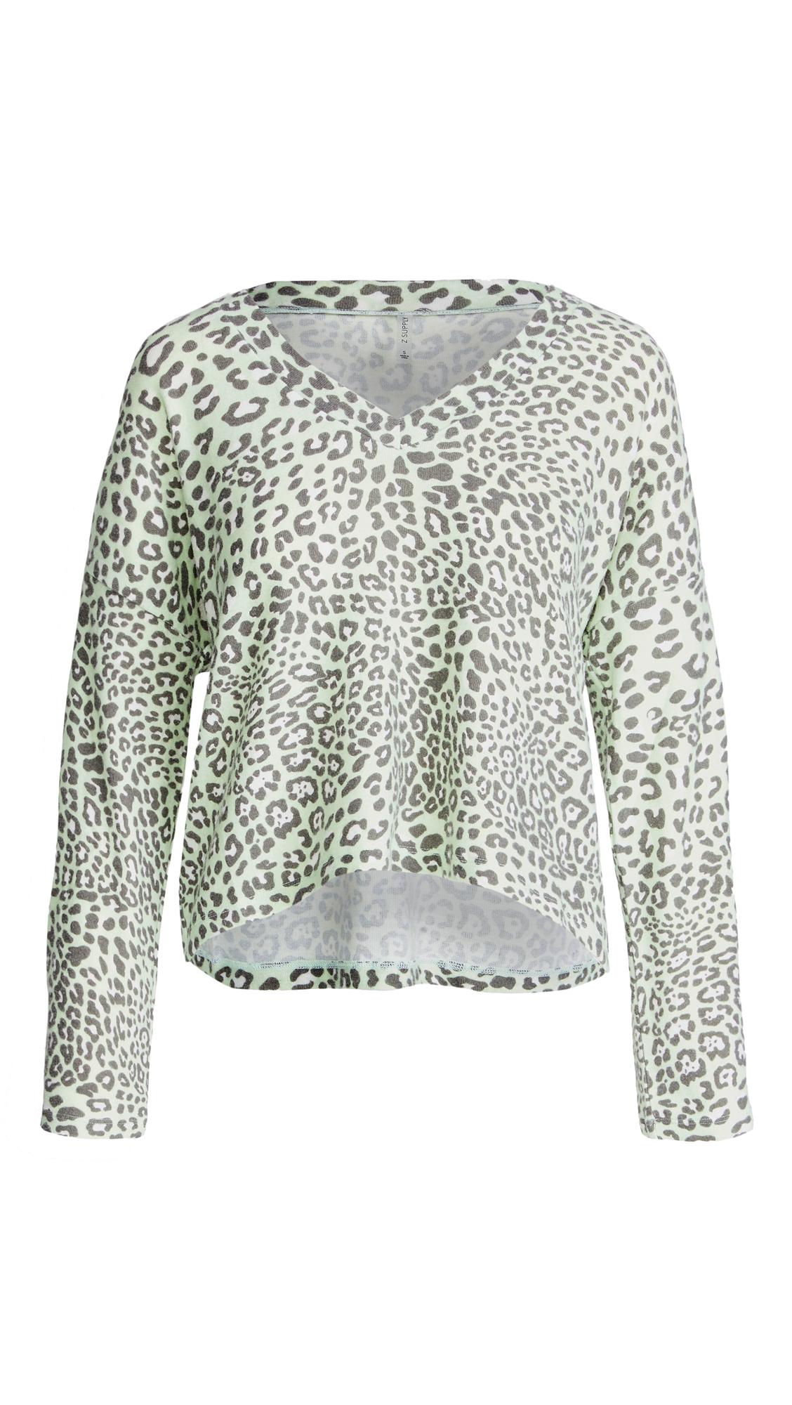 Z Supply Lyra Leopard Top