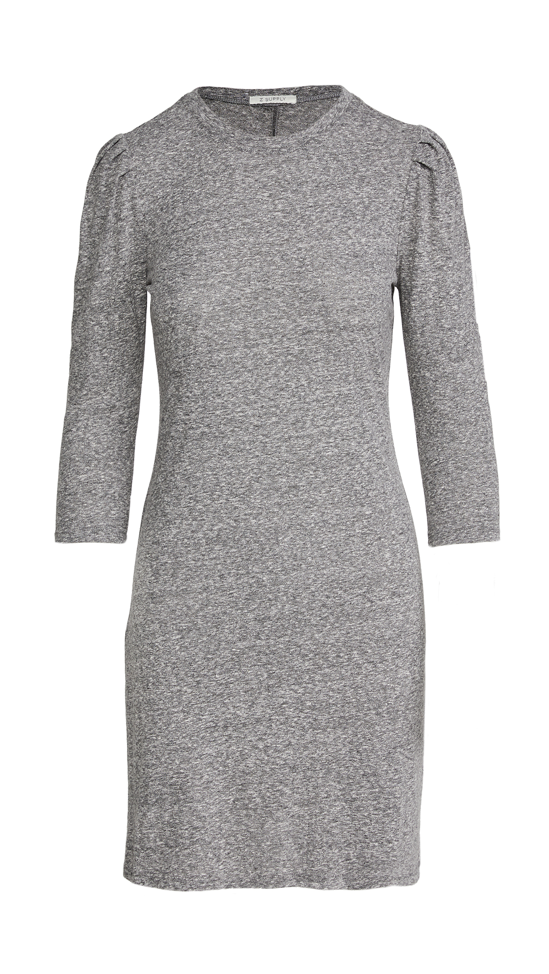 Z Supply Puff Sleeve Tri Blend Dress