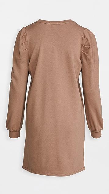 Z Supply Puff Sleeve Sweatshirt Dress
