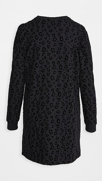 Z Supply Leopard Puff Sleeve Dress