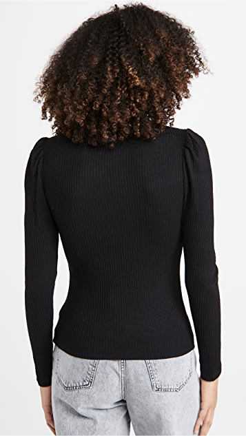 Z Supply Kaia Rib Puff Sleeve Top