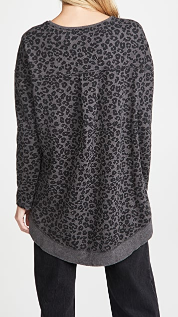 Z Supply Leopard Weekender Sweatshirt