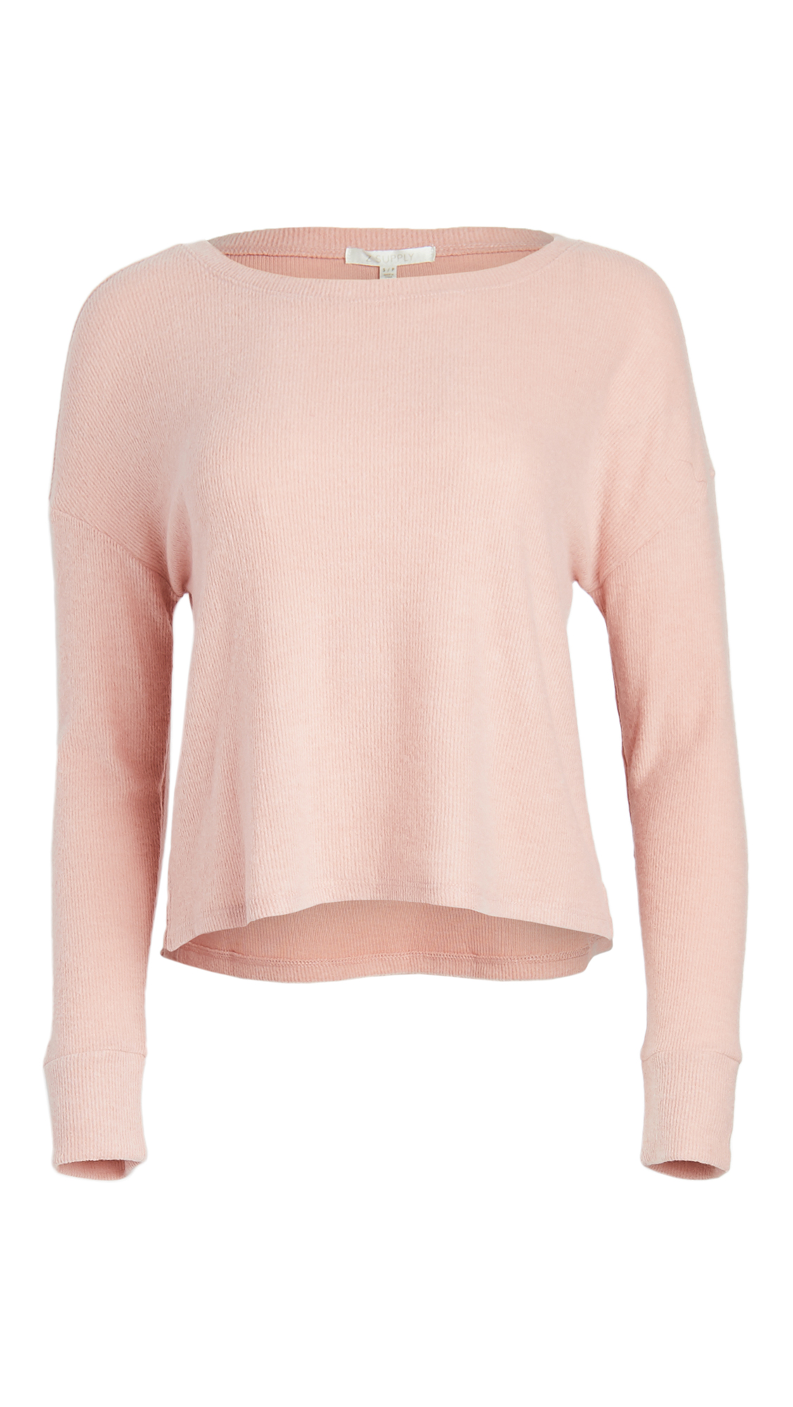 Z Supply Leila Rib Long Sleeve Top