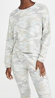 Z Supply Celine Camo Long Sleeve Top