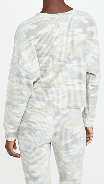 Z Supply Celine Camo Long Sleeve Top
