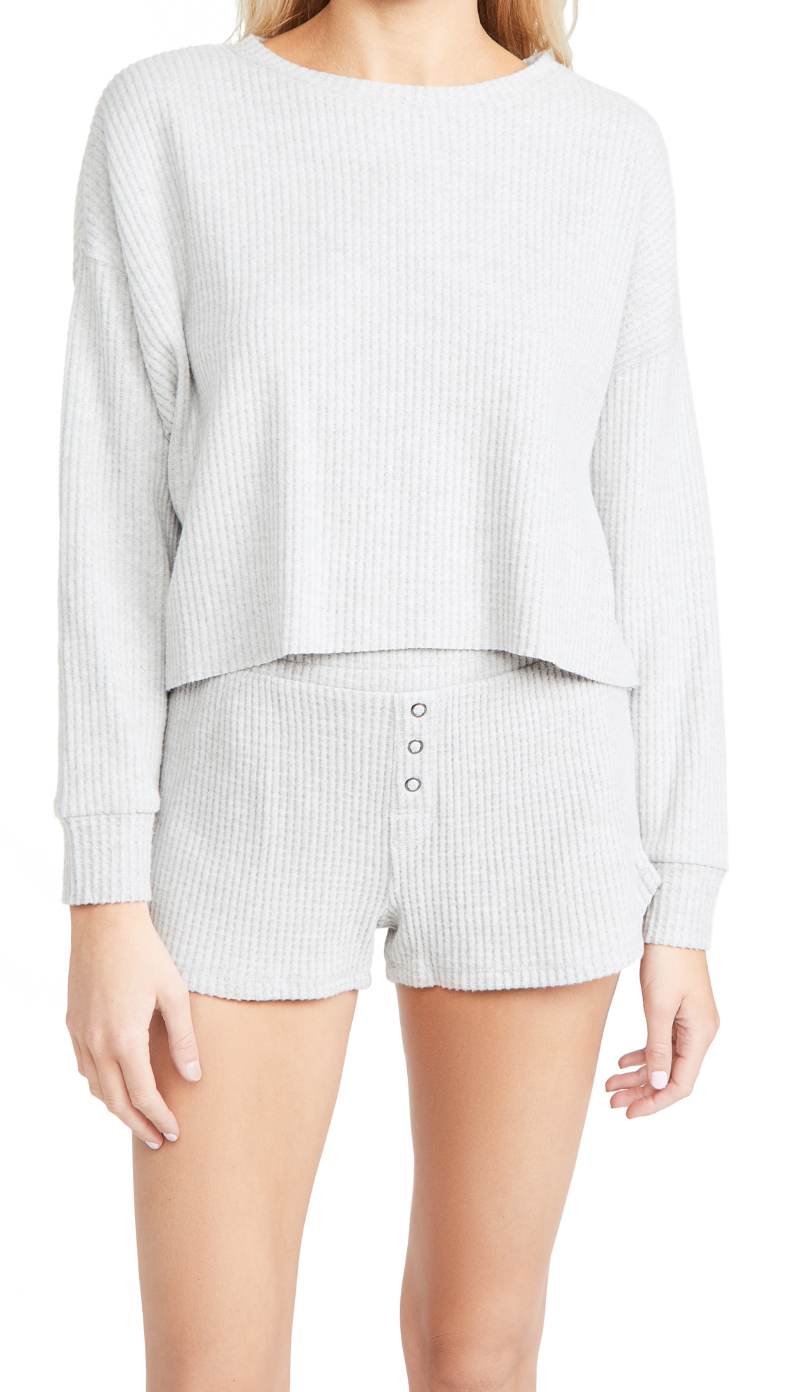 Z Supply Celine Waffle Long Sleeve Top