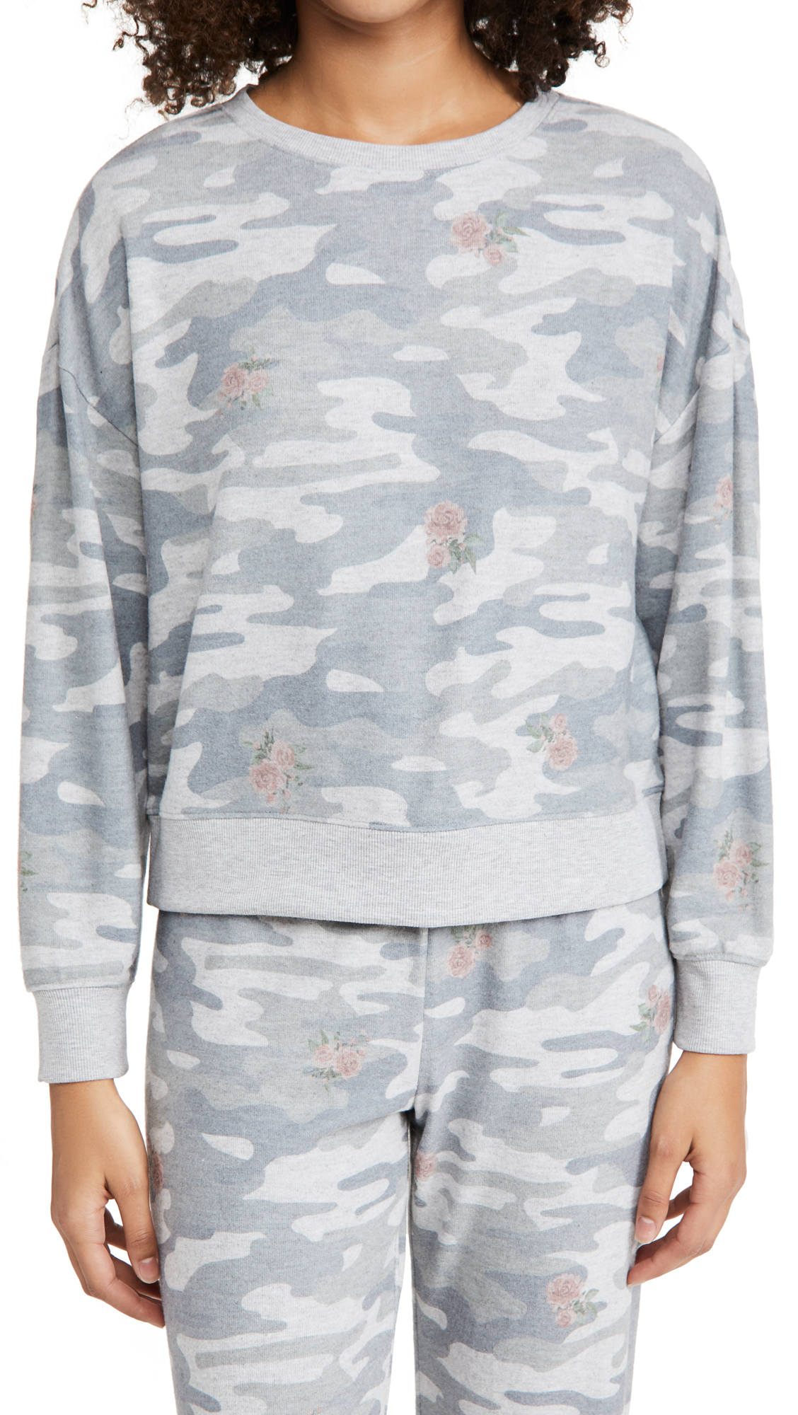 Z Supply Elle Rose Camo Pullover
