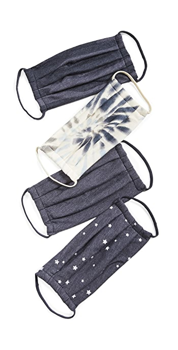 Z Supply 4 Pack of Face Coverings - Dust/Navy