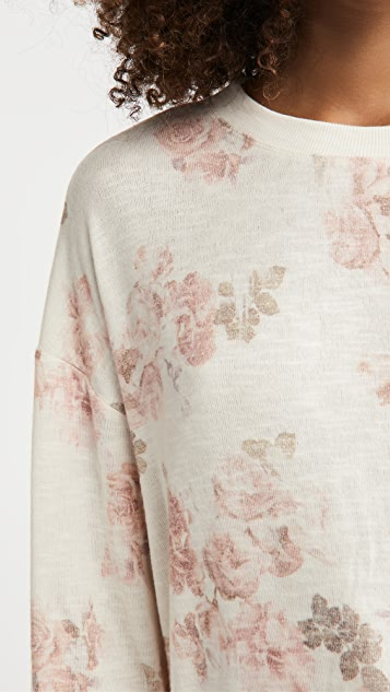 Z Supply Elle Floral Long Sleeve Top